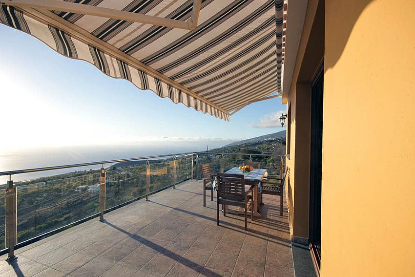 Looking north from the panoramic terrace of the holiday house La Planta