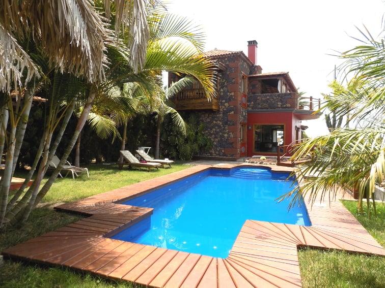 Spanien - Kanaren - La Palma - La Punta - Villa Nerea - Ferienvilla mit tropischem Garten und Privatpool