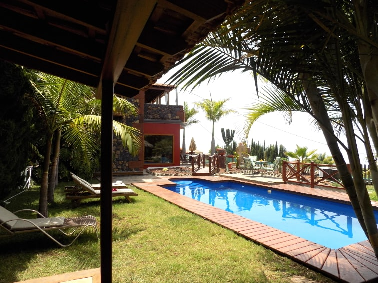 Spain - Canary Islands - La Palma - La Punta - Villa Nerea - Holiday Cottage with private heated pool and fantastic Ocean View