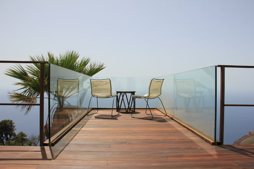 Spain - Canary Islands - La Palma - Puntagorda - Villa El Cielo - Skywalk terrace with Panoramic View