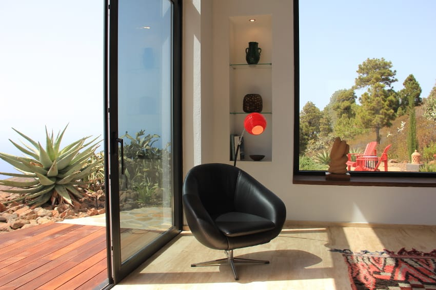 Spain - Canary Islands - La Palma - Puntagorda - Villa El Cielo - Lounge Chair with Garden Outlook