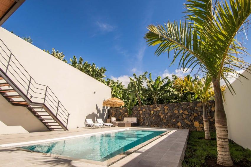 Spanien - Kanarische Inseln - La Palma - Tazacorte - Casa Alma Marina - der hautfreundliche Salzwasserpool mit Solarheizung