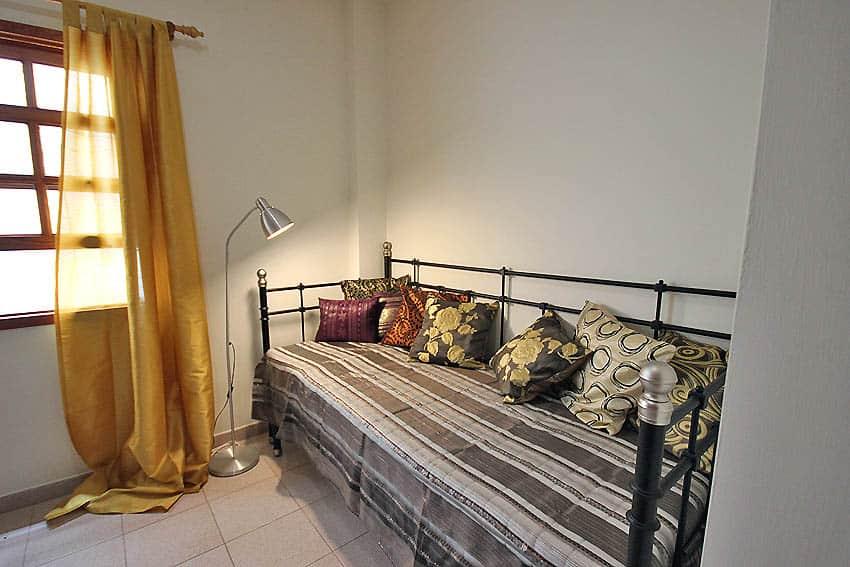 España - Islas Canarias - La Palma - Tazacorte - Apartamento Mar y Musica - Dormitorio con cama individual