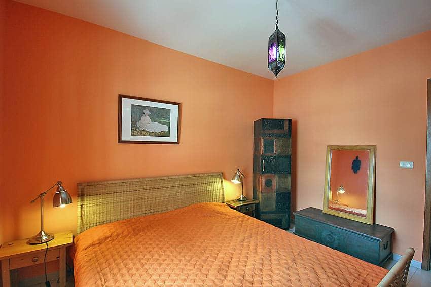 España - Islas Canarias - La Palma - Tazacorte - Apartamento Mar y Musica - Dormitorio con cama doble