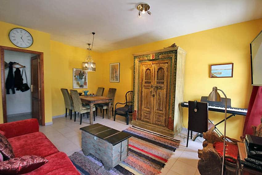 España - Islas Canarias - La Palma - Tazacorte - Apartamento Mar y Musica - Salón comedor con SAT-TV