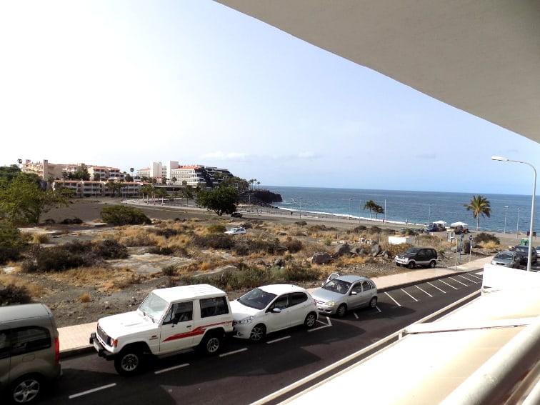 España - Islas Canarias - La Palma - Puerto Naos - Apartamento Mar y Sol - Balcón con vistas al mar lateral