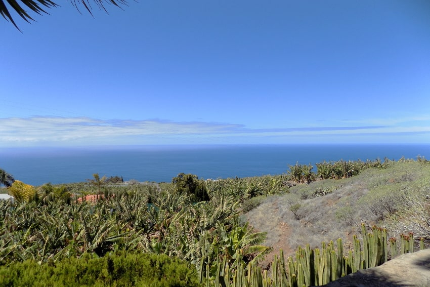 Spain - Canary Islands - La Palma - La Punta - Casa La Gorgonia - gorgeous sea view towards the blue Atlantic Ocean