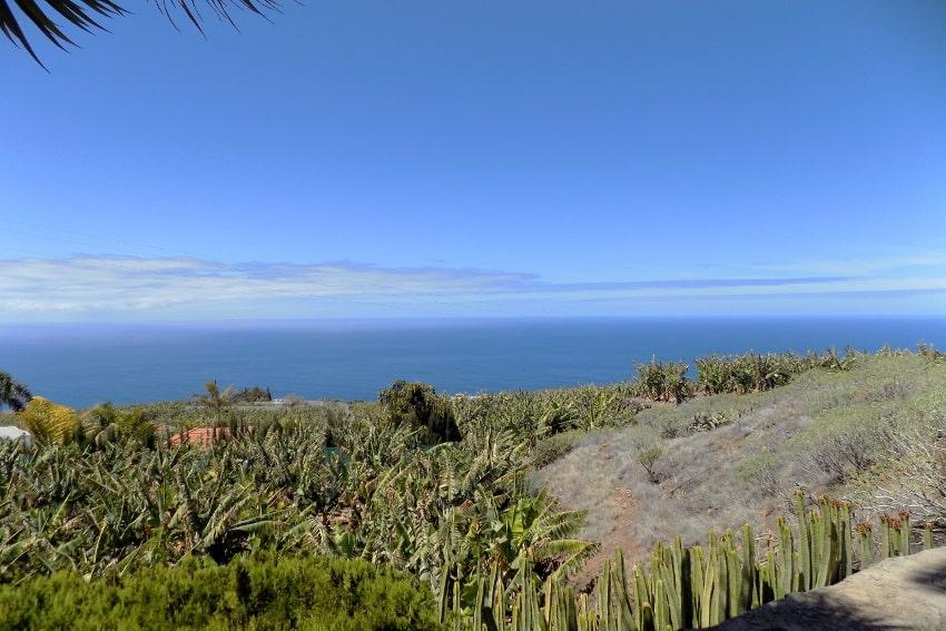 España - Islas Canarias - La Palma - La Punta - Casa La Gorgonia - Unas vistas increíbles al mar desde la casa rural con su jardìn tropical