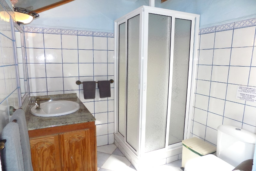 Spain - Canary Islands - La Palma - La Punta - Casa La Gorgonia - Bathroom en suite with shower