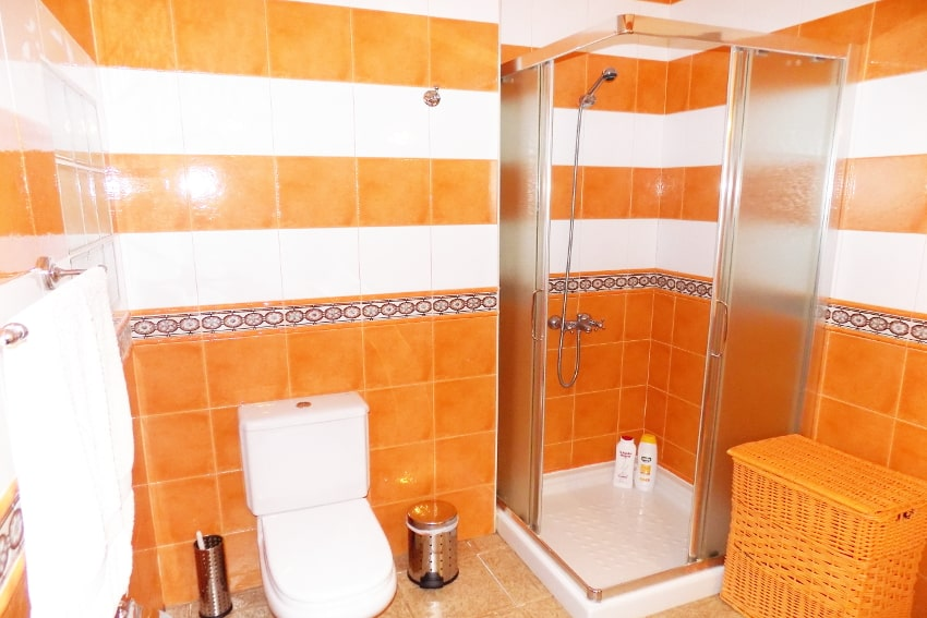 Spain - Canary Islands - La Palma - Mazo - Villa Monte Breña - bathroom with shower on the ground floor