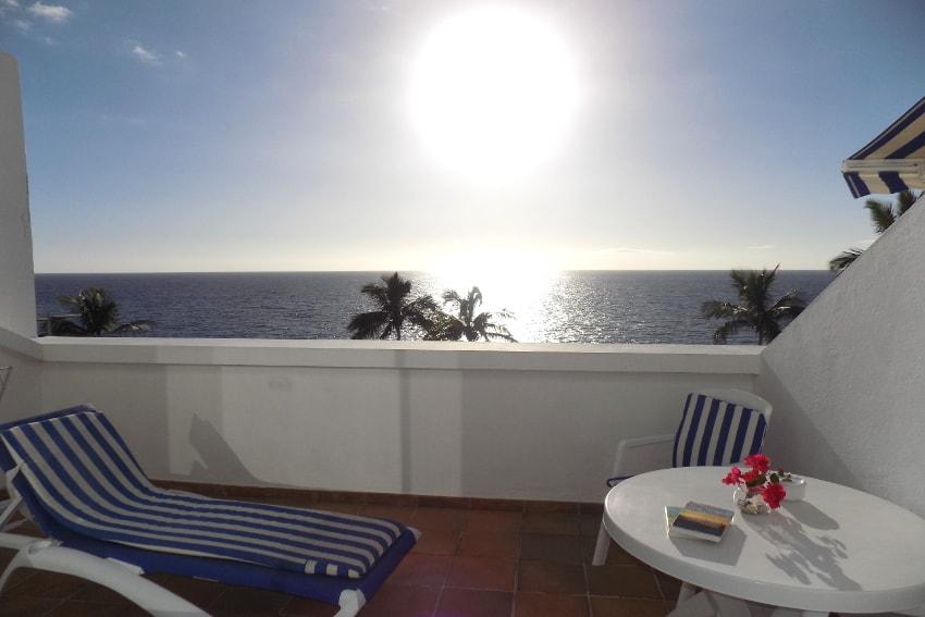 Spain - Canary Islands - La Palma - Puerto Naos - Apartment Atlántico Playa - Balcony with stunning sea and beach views
