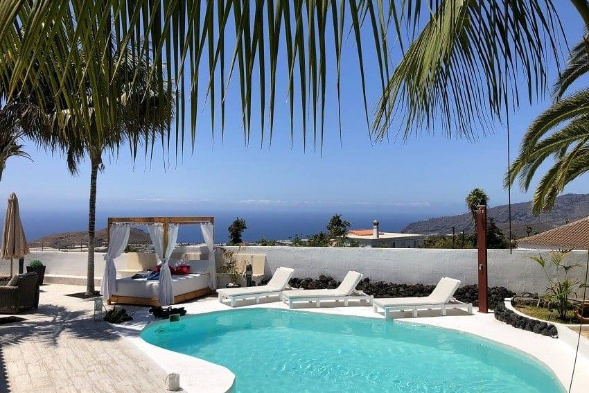 Blick, Villa Tajuya, Ferienhaus La Palma