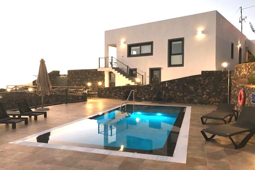 Spain - Canary Islands - La Palma - Los Llanos de Aridane - Villa La Graja - Modern holiday villa with swimming pool by night