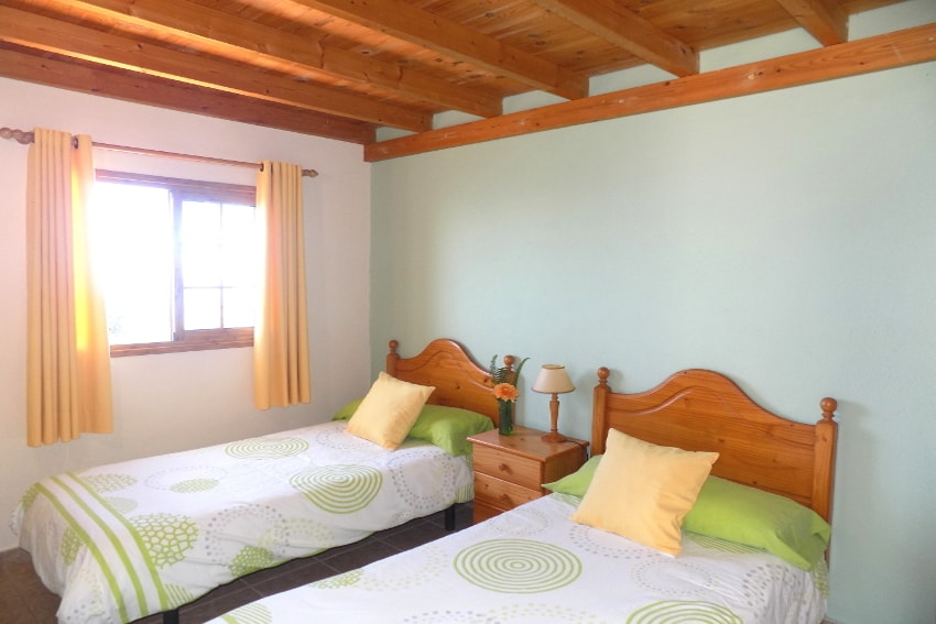 Spanien - Kanarische Inseln - La Palma - Puntagorda - das gemütliche Schlafzimmer mit 2 Einzelbetten
