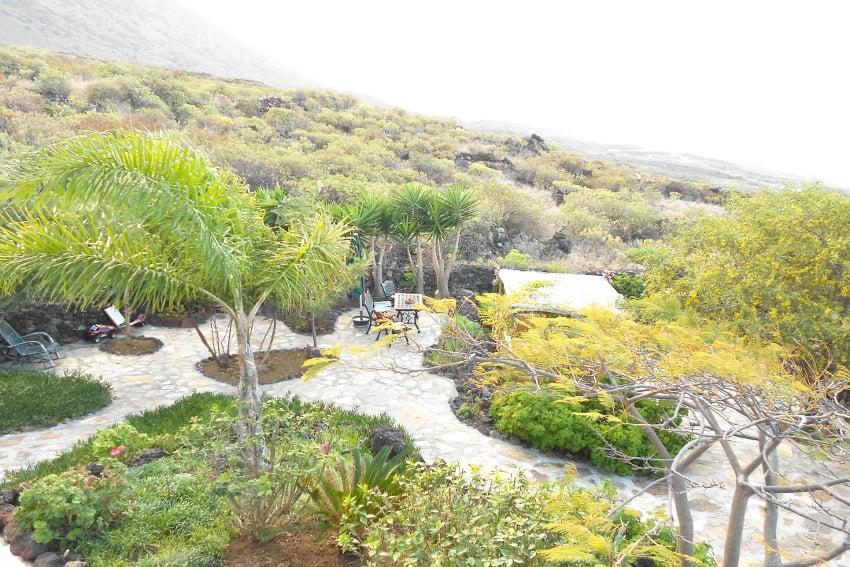 Spain - Canary Islands - El Hierro - Frontera - Casa Estrella - Garden with sea views
