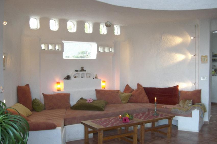 Spain - Canary Islands - El Hierro - Frontera - Casa Estrella - Living room with lounge sofa