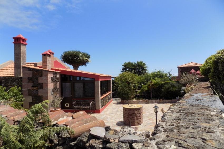 Spain - Canary Islands - El Hierro - Valverde - Casa La Florida 1 - Terrace with view towards Casa La Florida 2