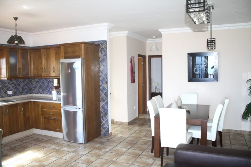 Spain - Canary Islands - El Hierro - Los Llanillos - Casa Victor - Kitchen with integrated dining and living room