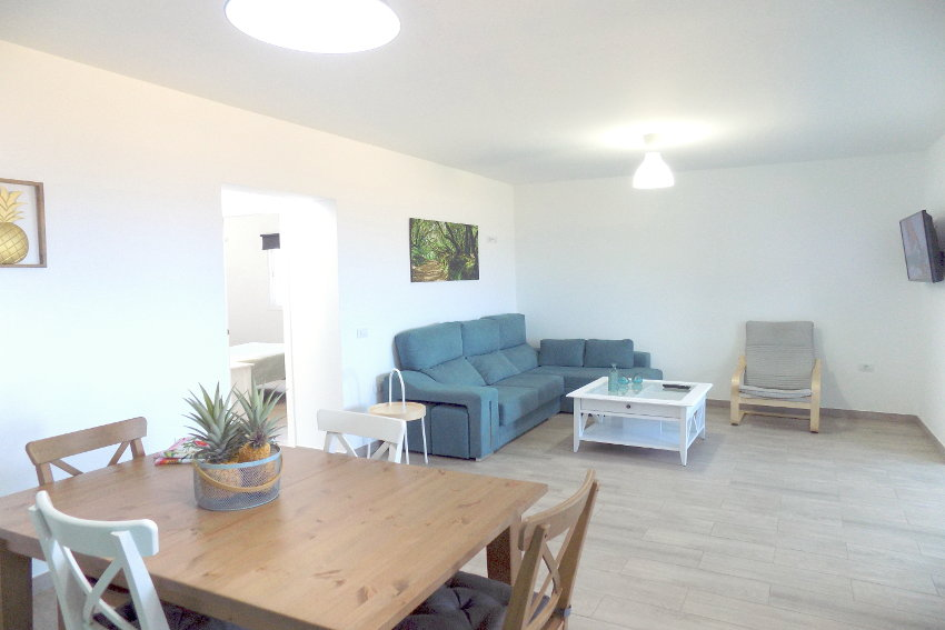Spain - Canary Islands - El Hierro - Frontera - Casa Elvira - New built modern holiday home with stunning sea views - Living and dining room with American kitchen