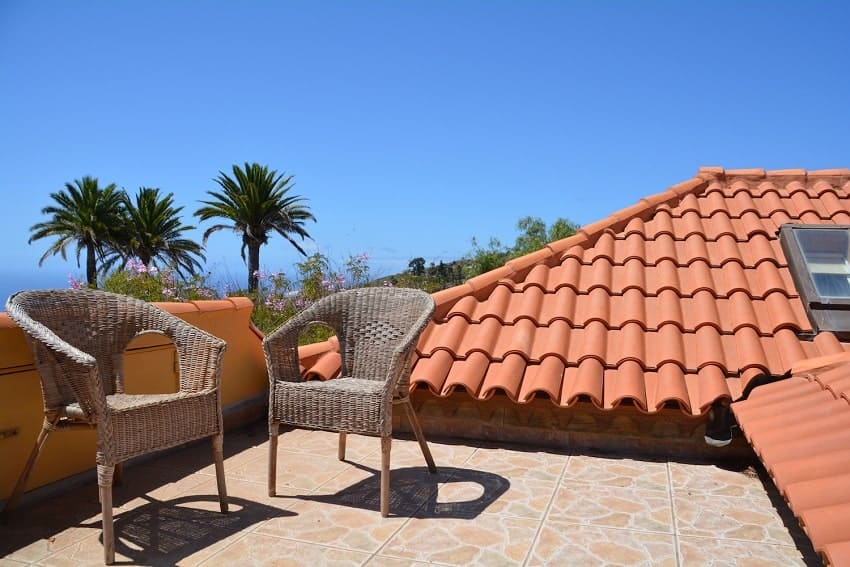 Roof Terrace, Casa Caracol, Holiday Cottage Tijarafe