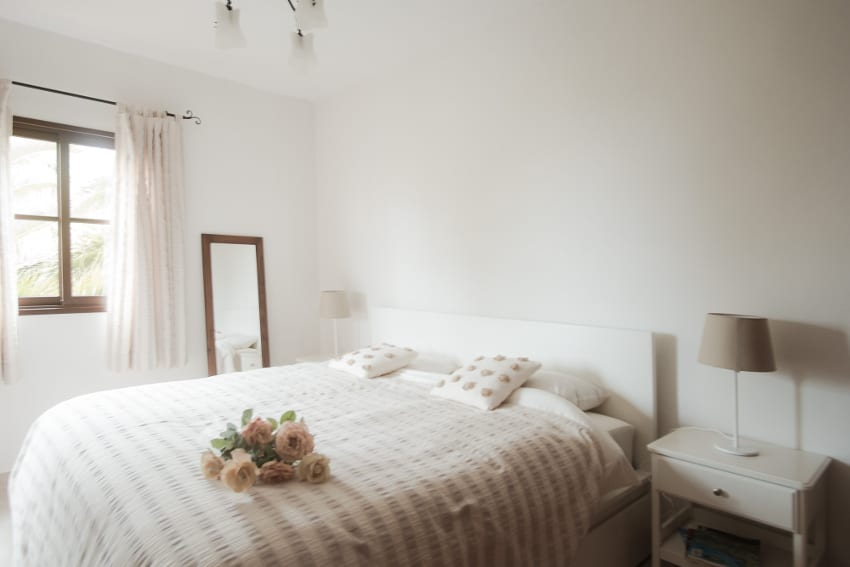 Spain - Canary Islands - La Palma - Fuencaliente - Finca Teneguía - Double bedroom on the upper floor