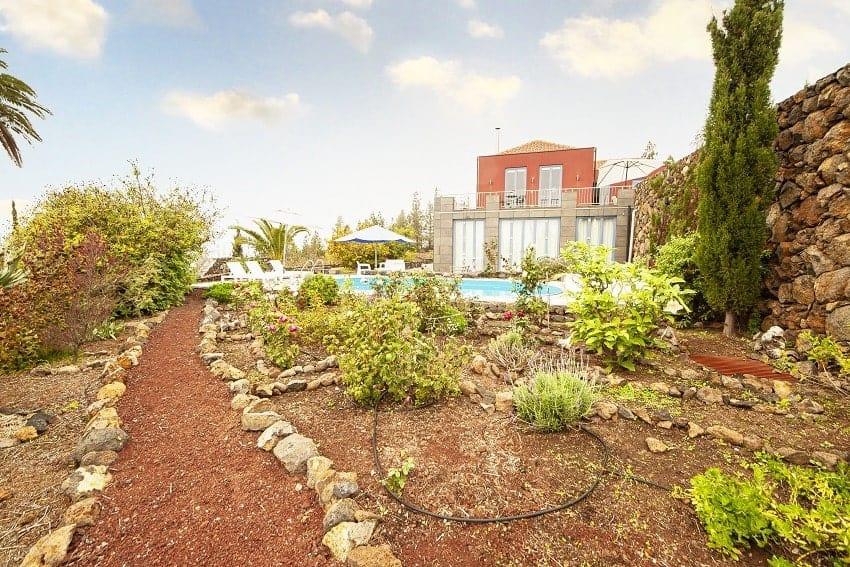 Garden, Villa Alegranza, Villa Tijarafe with Pool