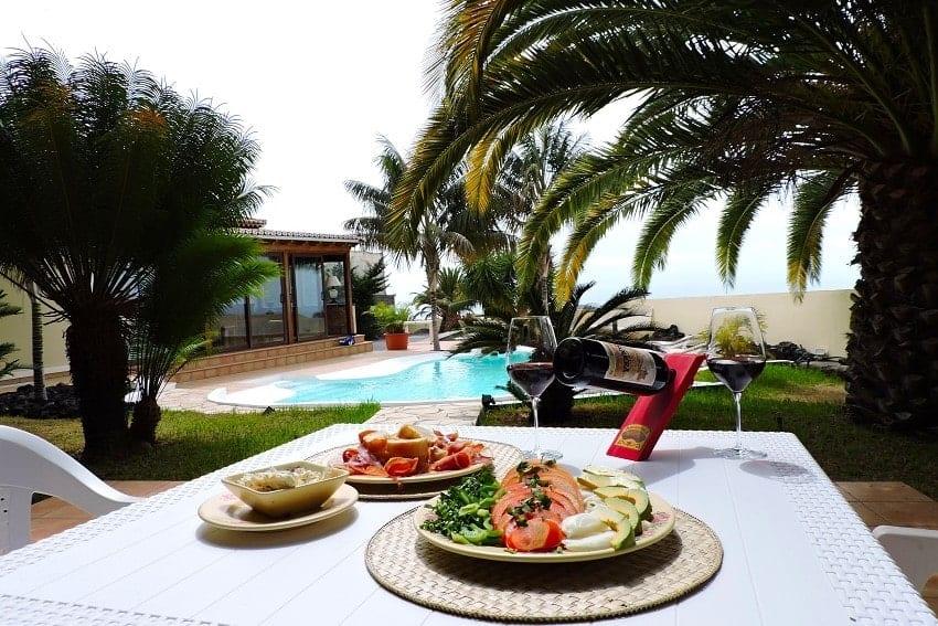 Garten, Villa Tajuya, Ferienhaus La Palma