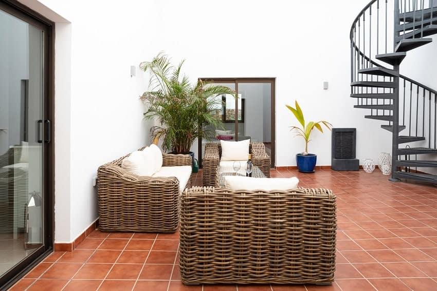 Innenhof, Villa Kira, Ferienhaus Fuerteventura