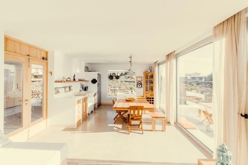 Cocina, Salón, Villa Triangolo, Fuerteventura