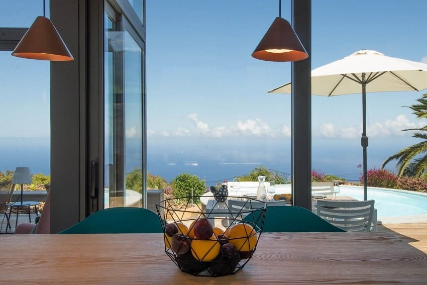 Kitchen with Ocean View, Villa Hahn, Villa La Palma