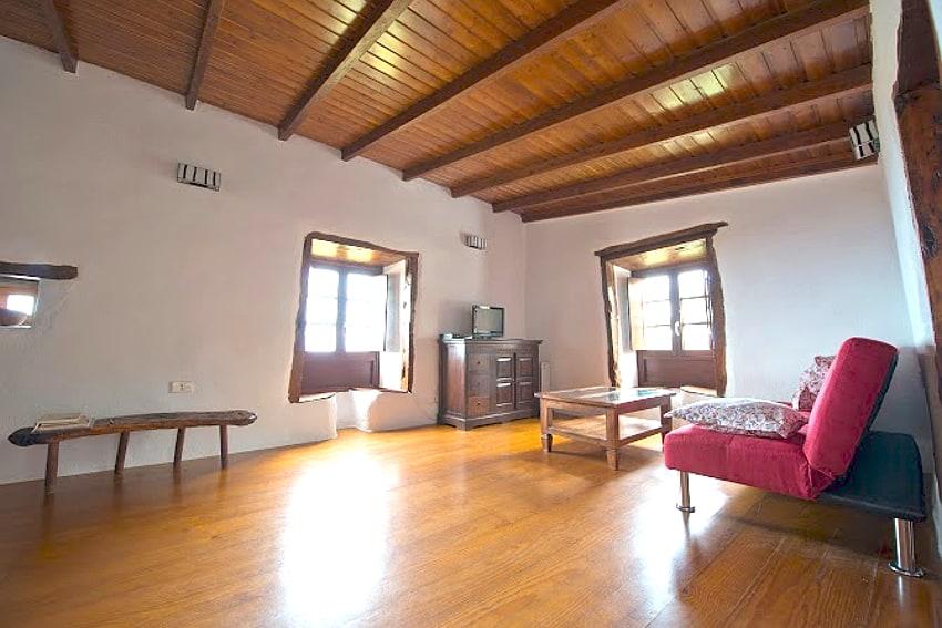 España - Islas Canarias - El Hierro - Frontera - Casa Gilberto - Salón con TV y unas vistas maravillosas al mar en la parte superior