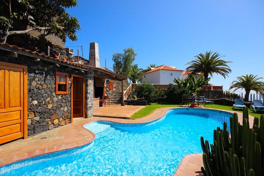 Pool, Finca Los Dos Patos, Finca in La Palma