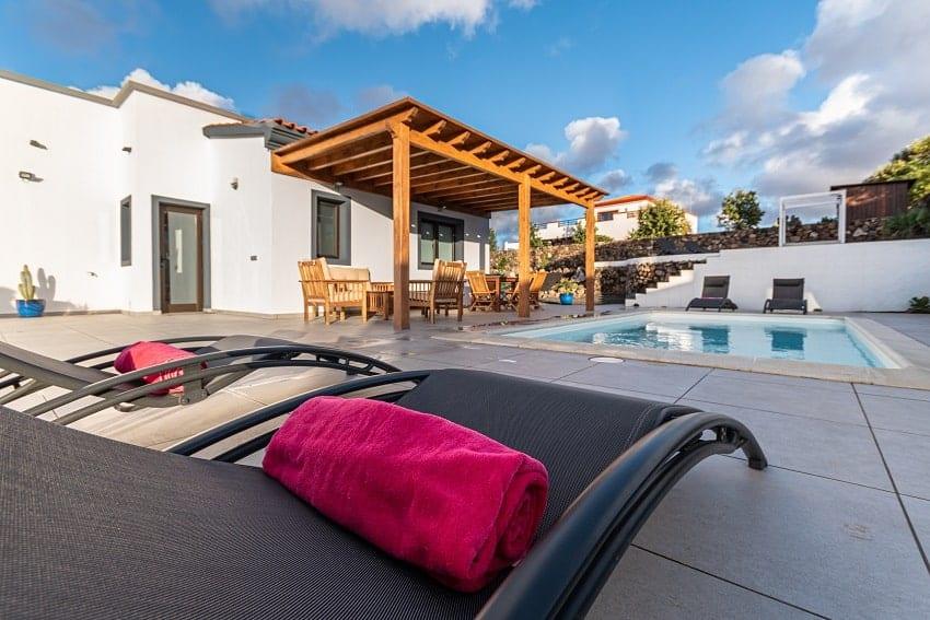 Pool, Villa Kira, Ferienhaus Fuerteventura, Tindaya