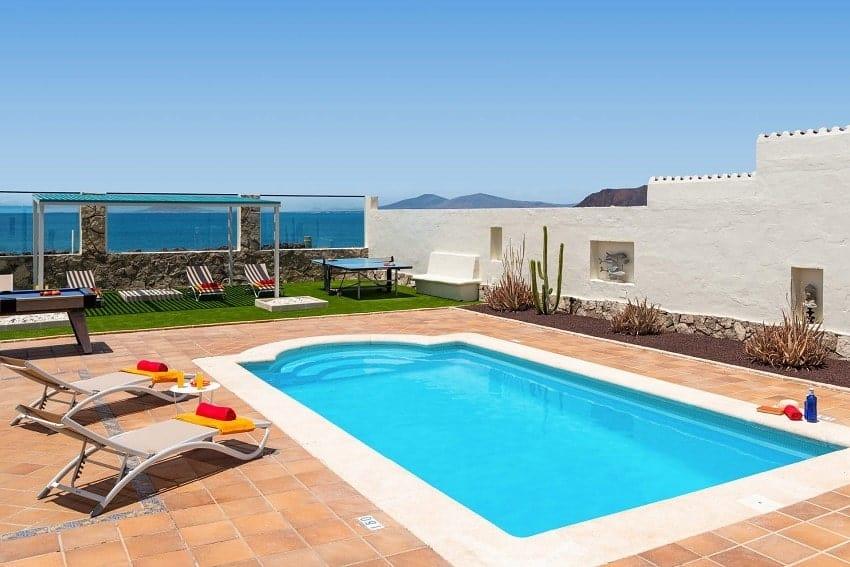 Piscina, Villa Lobos, Villa Fuerteventura