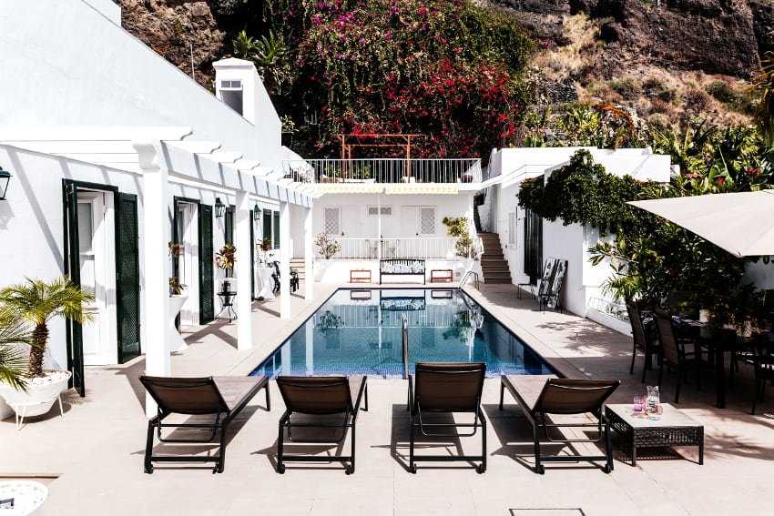 Spain - Canary Islands - La Palma - Puerto de Tazacorte - Villa Imperial - Colonial holiday villa from the 20s of the last century with a private saltwater swimming pool and separate apartment and roof terrace
