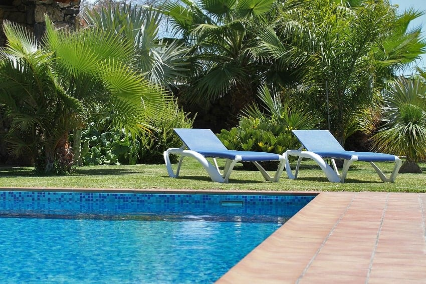 Pool with Sunbeds, Casa Calma, Holiday Home La Palma