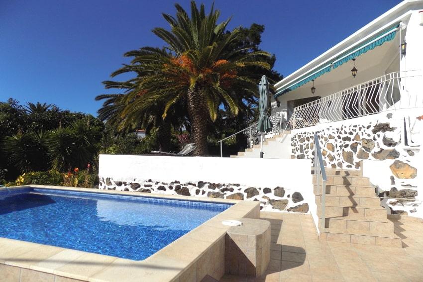Spain - Canary Islands - La Palma - Tajuya - Casa La Palmera - Private swimming pool with heating