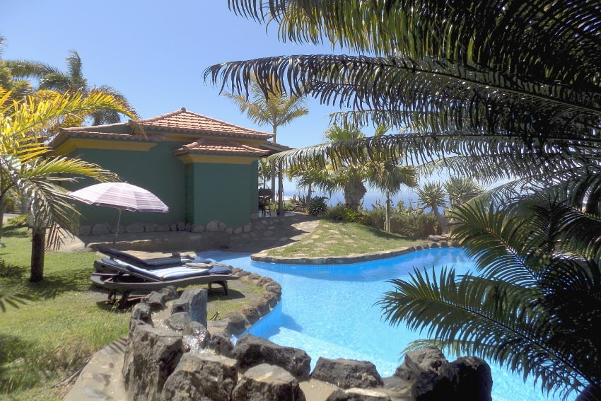 Spain - Canary Islands - La Palma - La Punta - Casa Las Vetas - Holiday home with private saltwater pool, marvellous sea views and tropical garden in a secluded area