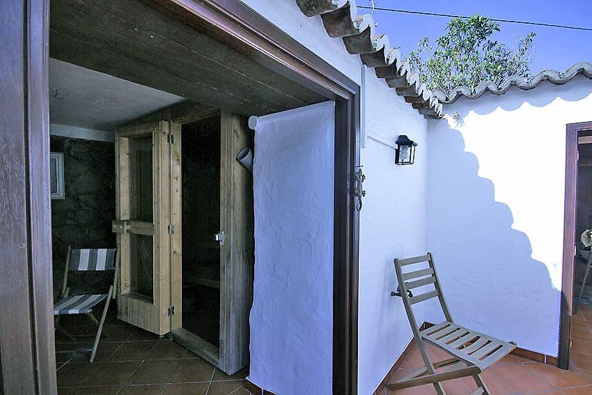 Ferienhaus La Palma Casa Las Tortugas: die hauseigene Sauna