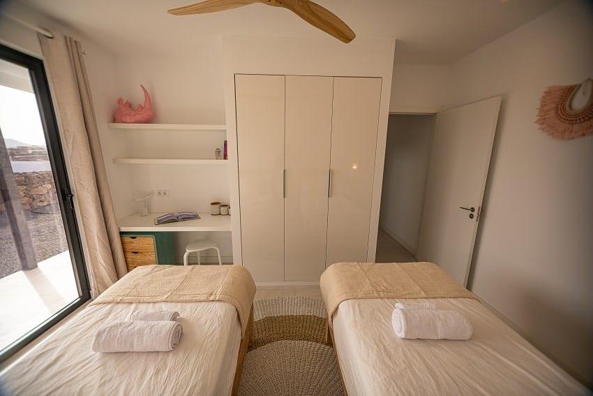 Bedroom, Single Beds, Villa Odo, Villa Fuerteventura