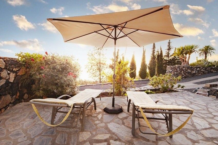 Sunbeds, Casa San Borondon, Luxury Holiday Home La Palma