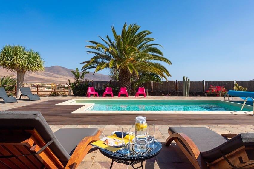 Sunbeds, Villa Atlanntes, Villa Fuerteventura