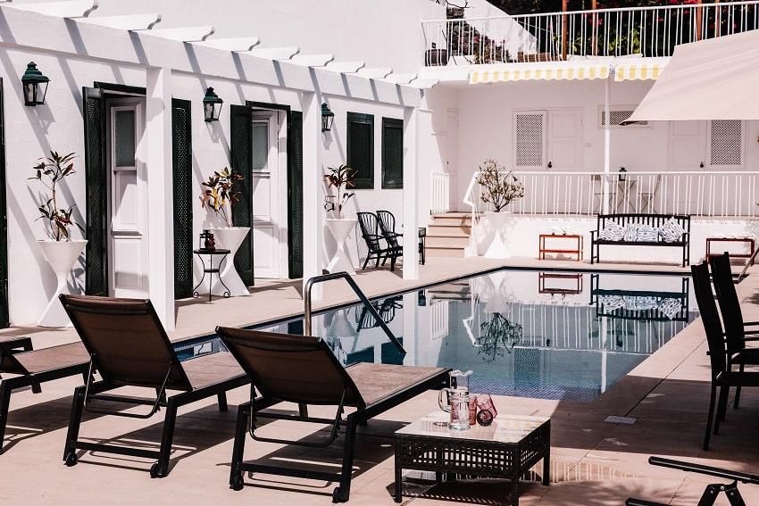Sunbeds, Villa Imperial, La Palma Villa