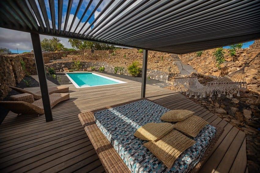 Sunbeds, Villa Odo, Villa Fuerteventura