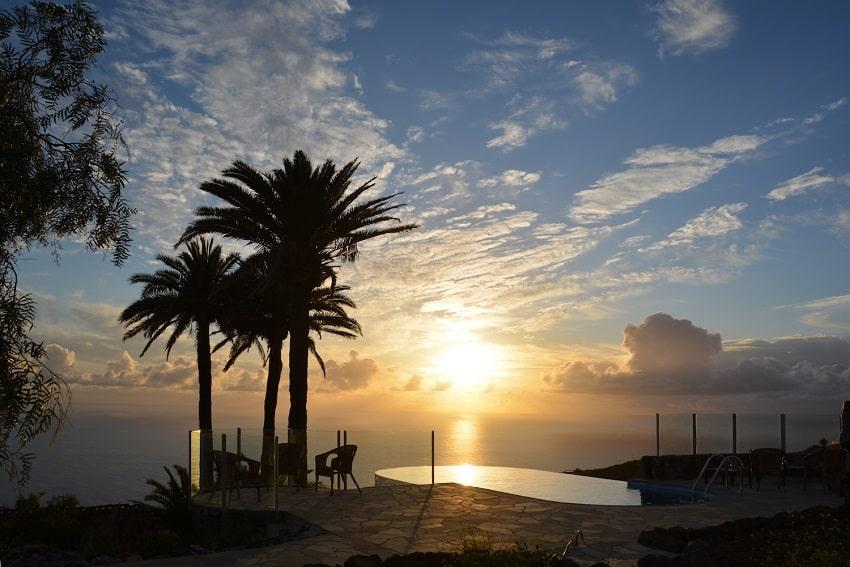Sunset, Pool, Casa Caracol, Holiday Cottage Tijarafe