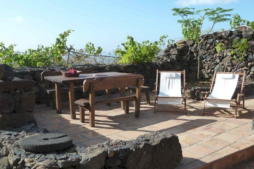 Spain - Canary Islands - El Hierro - Los Llanillos - Casa Pepe Luis - Cozy terrace with stunning view