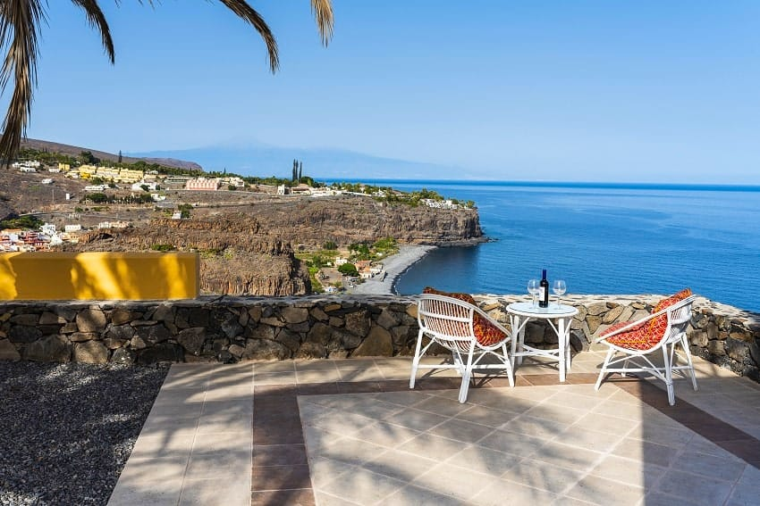 Terrace, View, Casa Vista Azul, Holiday Home La Gomera