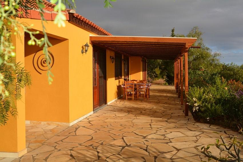 Terrace, Casa Caracol, Holiday Cottage Tijarafe