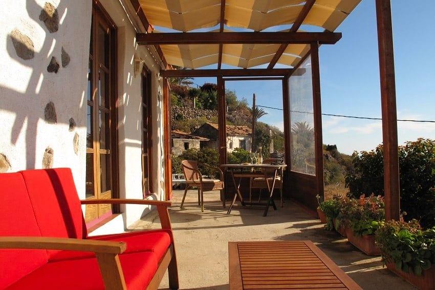 Terrace, Casa El Tabaibal, Accommodation La Gomera