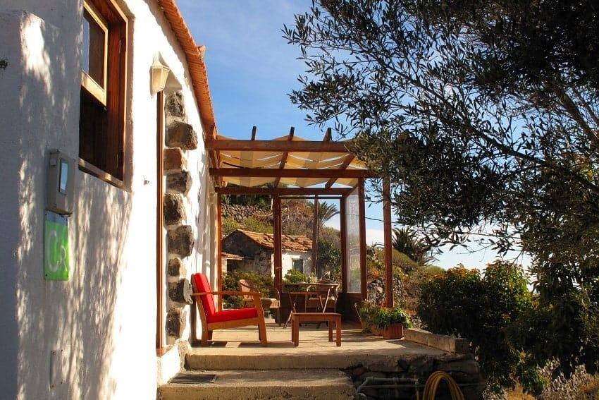 Terrace, Casa El Tabaibal, La Gomera